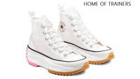 Converse Run Star Hike HI White Black Pink Girls Women Trainers Limited Edition