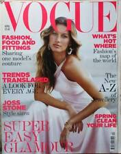 April Vogue Monthly Magazines