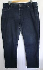SPORTSCRAFT ~ Simone Dark Blue Wash Denim Straight Leg Jeans 16 Hemmed / Short