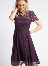 BNWT Ladies Marks & Spencer Lace Occasion Skater Dress Size 10