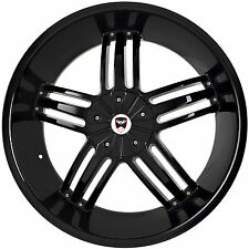 4 GWG WHEELS 24 inch Black SPADE Rims fits 6x139.7 ET18 GMC YUKON XL 1500 6 LUG