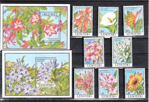 LESOTHO 1993  FLOWERS SET&S/S  MNH VF