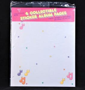 """1985 Hallmark Four Double Side 11"""" X 9"""" Sticker Album Refill Pages"""
