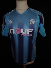 Maillot de football vintage OM Marseille Adidas Bleu Taille 16 ans
