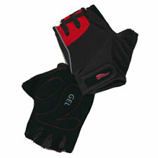 Cycing Mitts Unisex Red/Black - Lycra Gel Cycle Mitts