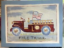 Pottery Barn Firetruck Canvas Picture