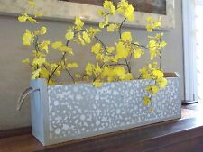 """PLANTER BOX HERB BOX FOR INDOORS OR OUTDOORS (HAND MADE) """"ONE OF A KIND"""" WOOD"""