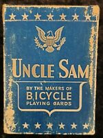 Vintage Circa 1940's Era 'UNCLE SAM' Playing Cards Buy USPCC - RARE