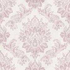 New Rasch - Bloomsbury Damask - Pink - Luxury Textured Wallpaper 204827