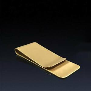 Wholesale Lots Man Blank Brass/copper Gold money clip Fashion Gift Free Ship #2