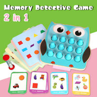 Memory Detective Training Thinking Kid Educational Math Matching Wooden Toys +