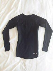 Skins 1//4 Zip MidlayerBlackWomensNewSportswear