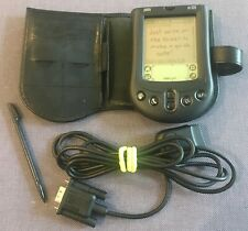 Vintage Palm M100 Pilot Pda With Stylus, Targus Case & Cable - Working