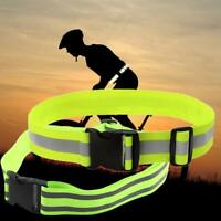 Practical Reflective Safety Waist Belts Sports Running Waistband Nights Jogging