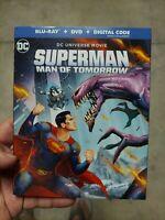 SUPERMAN - MAN OF TOMORROW (BLU-RAY+DVD+DIGITAL) NEW w/SLIPCOVER