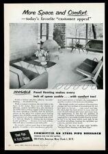 1954 Eero Saarinen modern chair sofa Hans Knoll chair photo vintage print ad