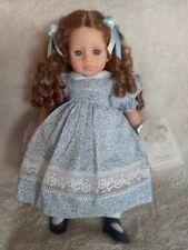 "Pauline's Brittany 18"" Vinyl Doll Auburn Curls Blue Eyes with Tag, Coa, and Box"