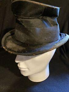 Antique Top Hat For Dressing Up Oliver Twist Chimney Sweep Etc Original Old Hat