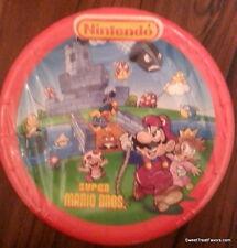 MARIO BROSS Birthday Decoration Party Plates Supplies Luigi Nintendo CAKE x8 NW