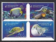 Australie 2018 Reef Safari Bloc de 4 Adhésif non Montés Excellent État , MNH