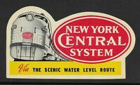 New York Central Rail Road - Advertising Window Label - Via the Scenic Route