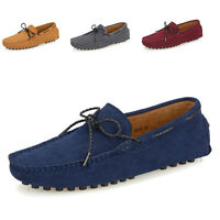 Men Driving Moccasins Slip On Flats Casual Suede Leather Penny Loafers Shoes