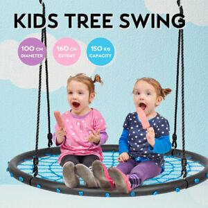 100cm Kids Outdoor Spider Web Tree Swing Set Hammock Chair Yard Play Toys