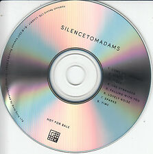 TOM ADAMS Silence 2017 UK 8-trk promo test CD