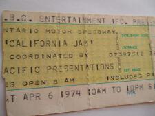 1974 CALIFORNIA JAM Original__CONCERT TICKET STUB__Deep Purple, Black Sabbath