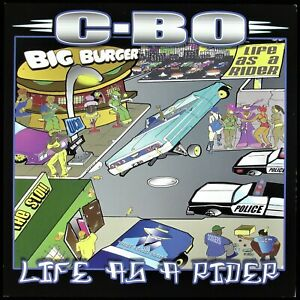 """C-BO """"LIFE AS A RIDER"""" 2002 PROMO POSTER/FLAT 2-SIDED 12X12 ~RARE~ HTF *NEW*"""