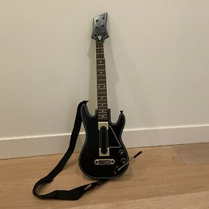 Activision Guitar Hero Power Wireless Guitar Xbox 360 PS3 Black Gold 654 CLEAN