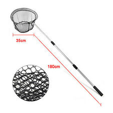 "TELESCOPIC LIGHTWEIGHT FISHING LANDING NET 70"" EXTENDING POLE MICRO MESH DT"