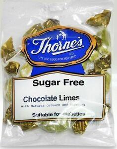 Chocolate Limes Sugar Free - Sugar Free Hard Sweets  - 2x100g Prepacked Bags