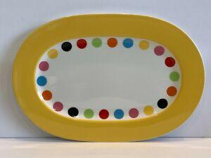 """Villeroy & Boch Wonderful World Multicolor Dots Platter 13 3/8"""""""