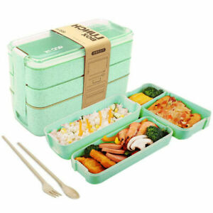 New Bento Microwave Lunch Box BPA Free 900ml For Adults Kids Food Snack Storage