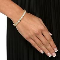 47105  7'' MARQUISE CT SIMULATED DIAMOND TENNIS BRACELET  CLASSIC 9CTS GOLD