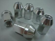 20pc OPEN M12X1.25 35MM EXTENDED ALUMINUM TUNER RACING LUG NUT Silver For NISSAN