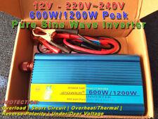 12V to 220V~240V AC Converter 600W / 1200W Peak Pure Sine Wave Inverter