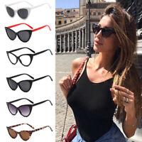 Women Vintage Cat Eye Sunglasses Retro Small Frame Eyewear Fashion Shades Ladies