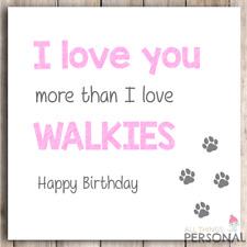 Funny Birthday Card from the Dog- Dog Mummy or Daddy - Best Dog Mum or Dad Card