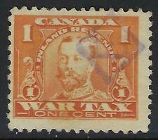 "Van Dam FWT7: 1c Admiral War Tax Revenue with ""E"" in Diamond - Eaton's Precancel"