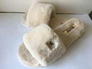 NEW Michael Michael Kors Fur Jet Set MK Women's Fur Slippers Slides Size 10