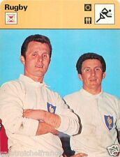 """FICHE CARD : TOUS FRERES Guy et Lilian Camberabero """"GRAND CHELEM""""  RUGBY 70s"""