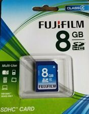 8GB Fujifilm SDHC Camera SD Flash Memory Card Class 4 - Free FAST Shipping!