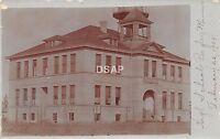 C83/ Bagley Minnesota Mn Real Photo RPPC Postcard 1908 High School Building
