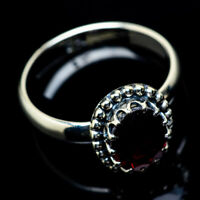 Garnet 925 Sterling Silver Ring Size 7.75 Ana Co Jewelry R22907F