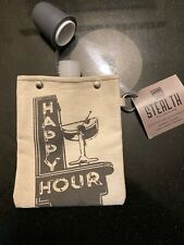 Tote + Able 4oz Canvas Flask - Happy Hour
