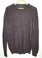 Debenhams Collection Men's Office Wool Rich Blend Lambswool Cardigan Plum Size M