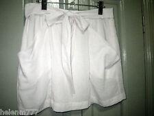 Sportsgirl 10 Ivory Sheer Woven Pocket Bow Tie Front Satin Lined Mini Skirt