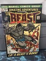 AMAZING ADVENTURES #11 MARVEL COMICS 1972 1ST APPEARANCE OF THE BEAST WITH FUR